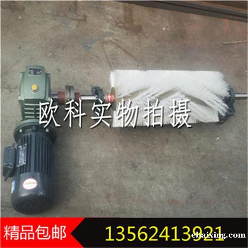 电动滚刷清扫器电动滚刷式皮带清扫输送皮带机刷式清扫器